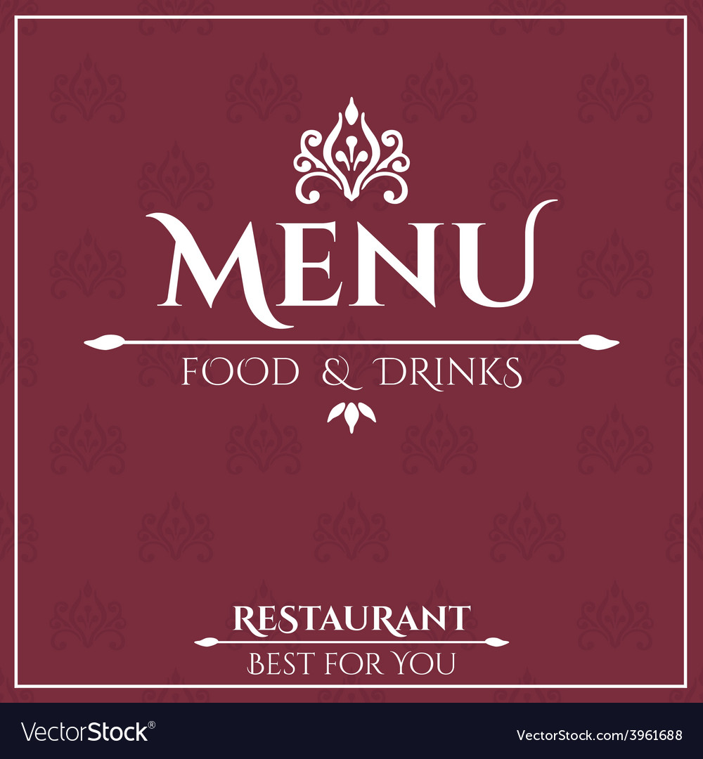 Elegant restaurant menu design vector
