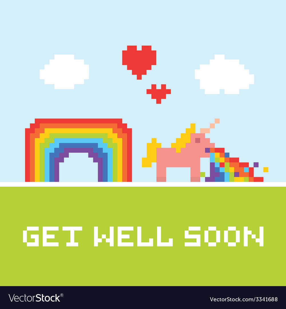 Get well soon unicorn vector | Price: 1 Credit (USD $1)