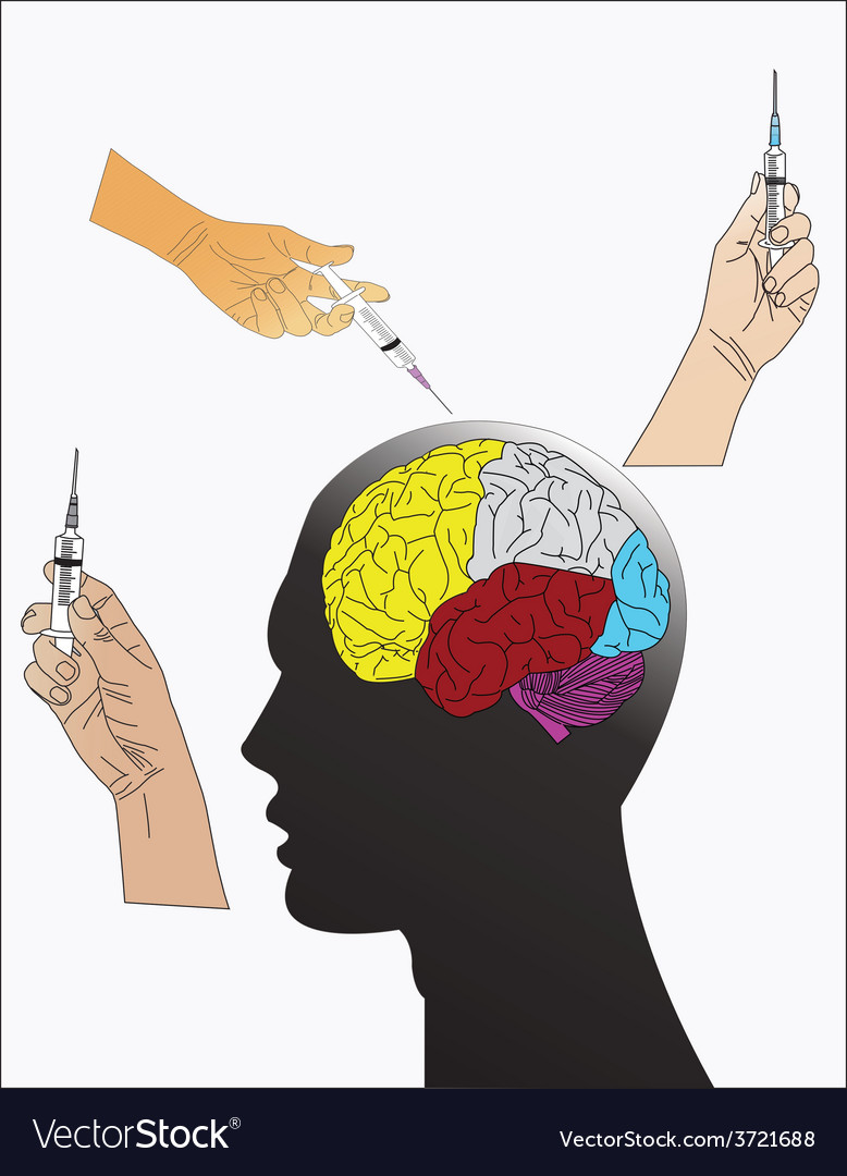 Head and syringe vector | Price: 1 Credit (USD $1)