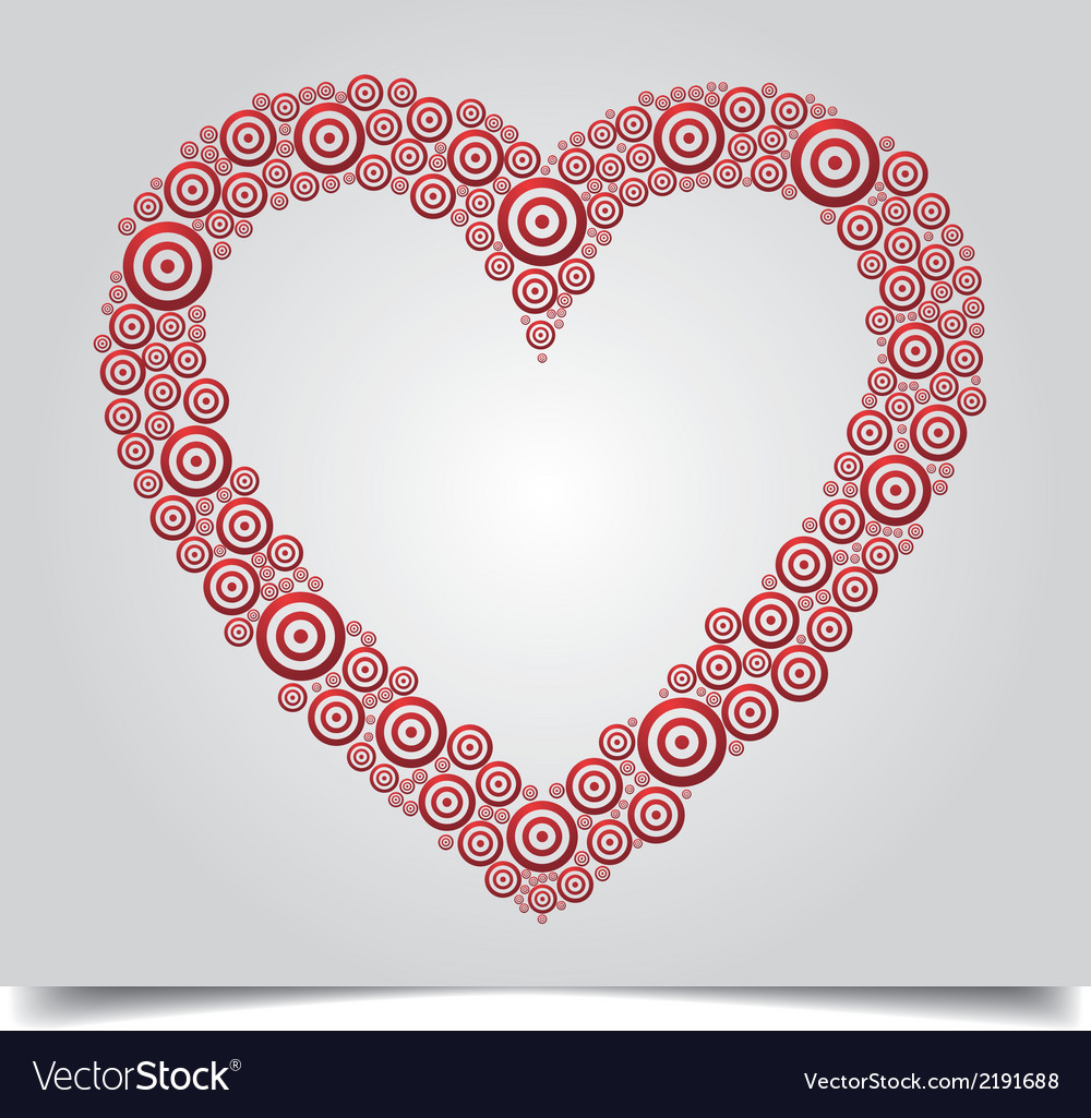 Heart red circle vector | Price: 1 Credit (USD $1)