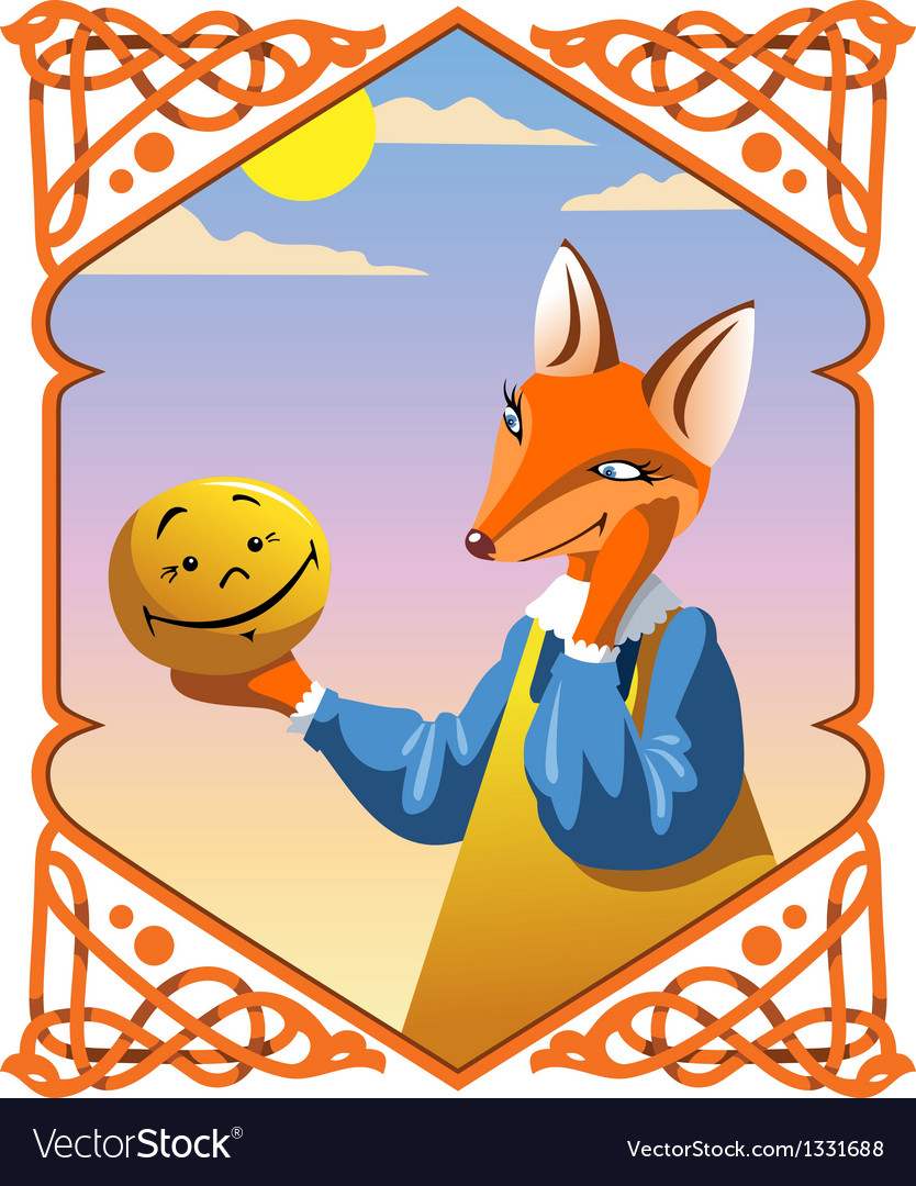 The little bun and the fox vector | Price: 3 Credit (USD $3)