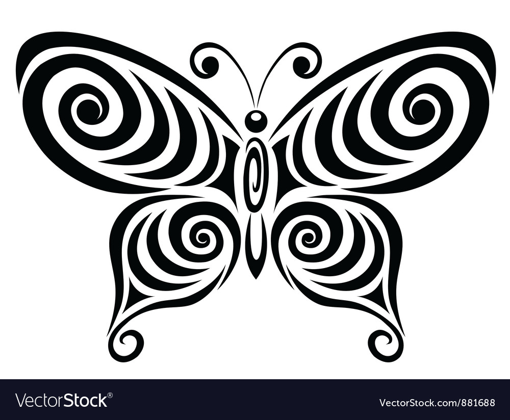 Ornamental butterfly 1 vector | Price: 1 Credit (USD $1)