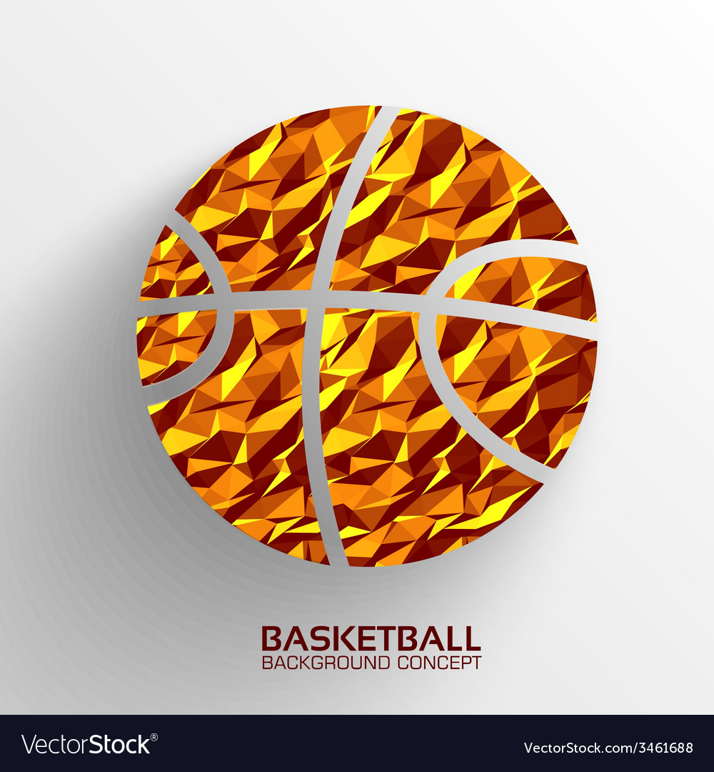 Polygonal basketball background concept tam vector | Price: 1 Credit (USD $1)