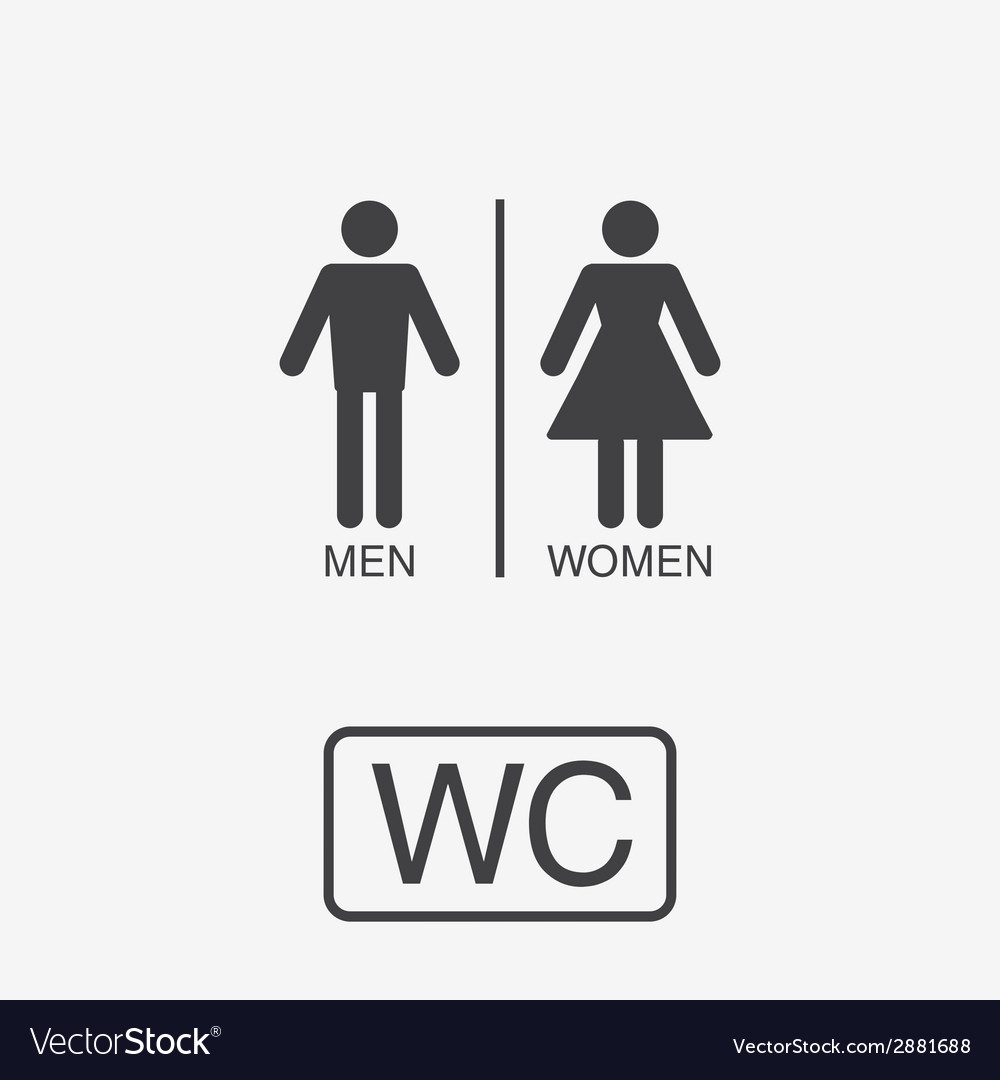 Restroom icons lady man vector | Price: 1 Credit (USD $1)