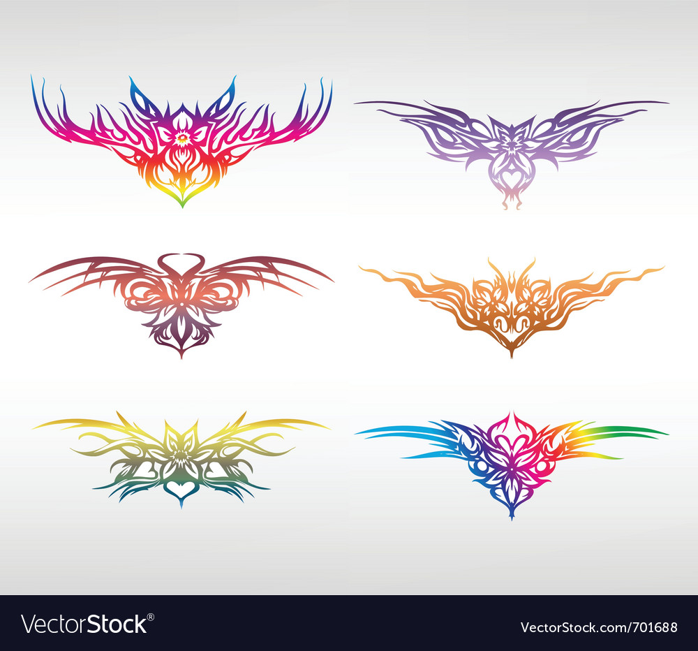 Set art elements of ornament vector | Price: 1 Credit (USD $1)