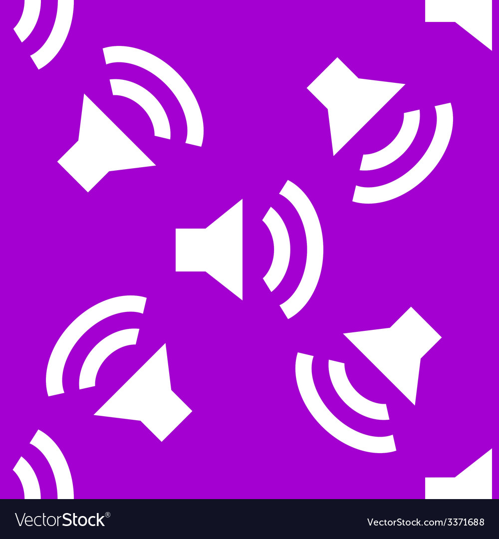 Speaker web icon flat design seamless pattern vector | Price: 1 Credit (USD $1)