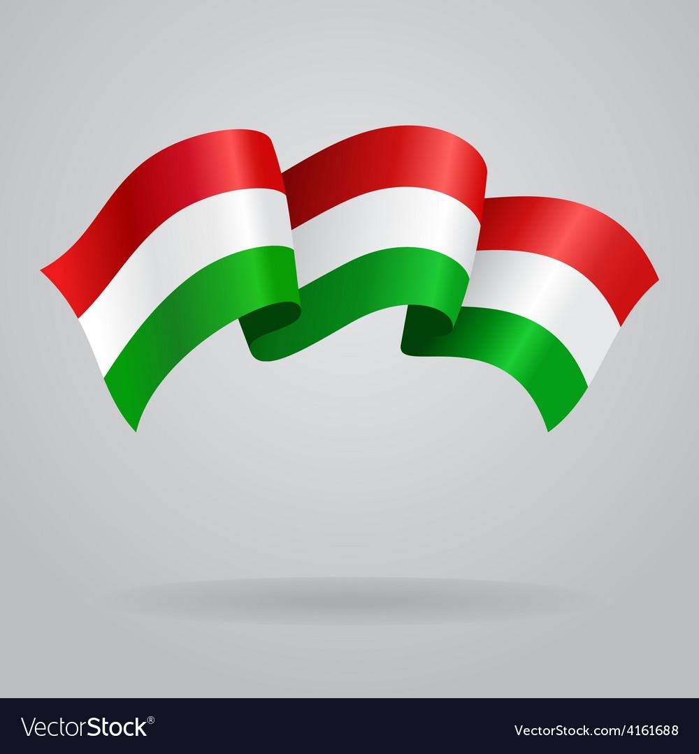 Waving hungarian flag vector   Price: 3 Credit (USD $3)