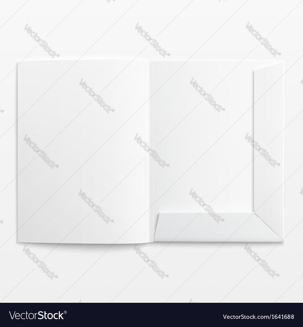 White empty open folder vector | Price: 1 Credit (USD $1)