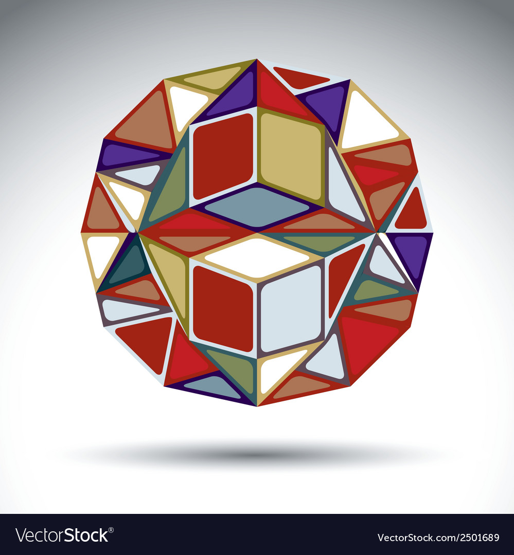 Abstract dimensional sphere with kaleidoscope vector | Price: 1 Credit (USD $1)