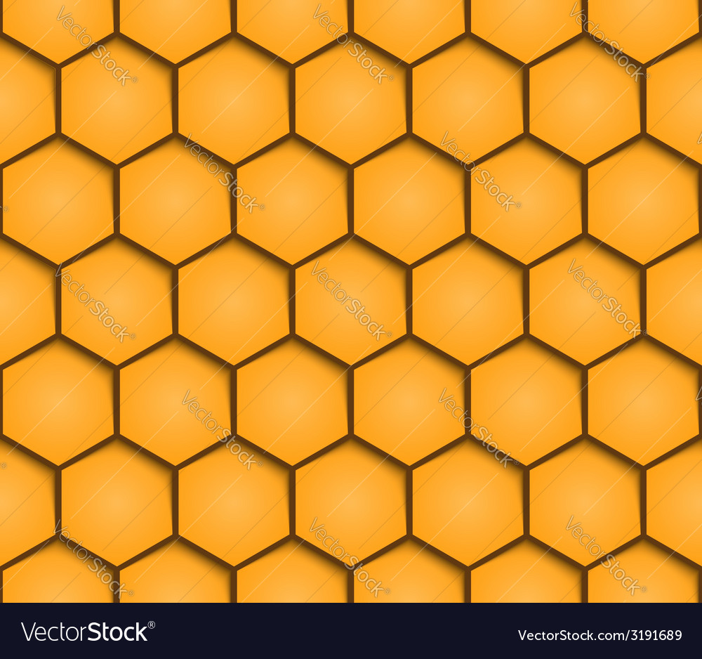 Abstract honeycombs background seamless geometric vector | Price: 1 Credit (USD $1)