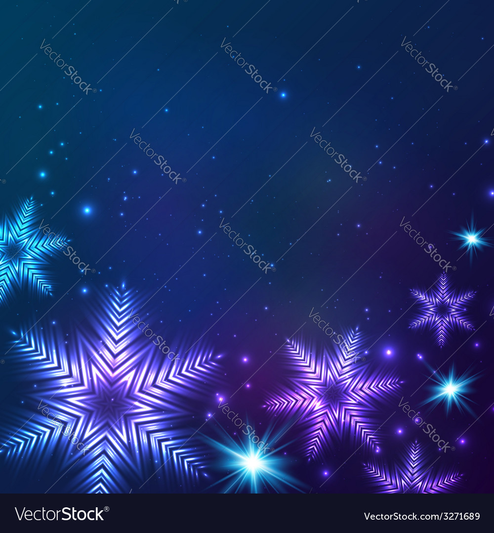 Blue cosmic snowflakes christmas abstract vector | Price: 1 Credit (USD $1)