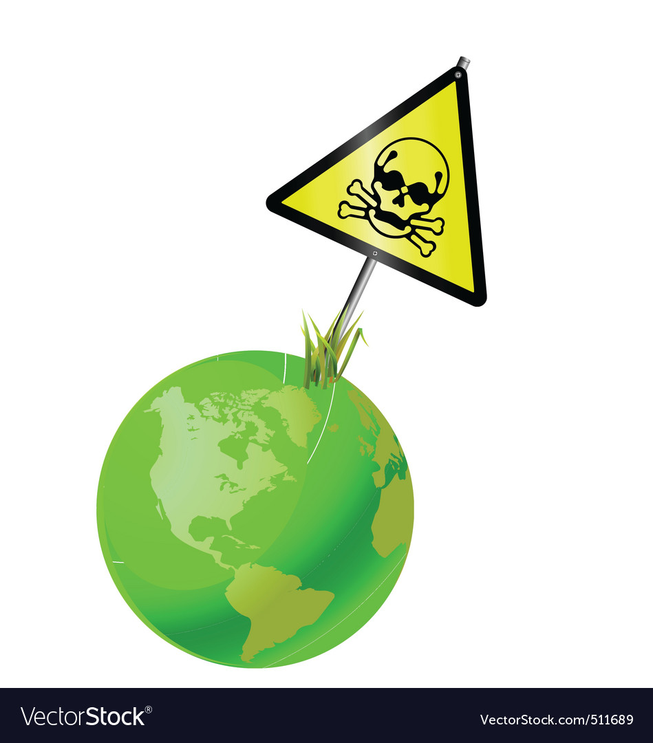Earth sign toxic vector | Price: 1 Credit (USD $1)