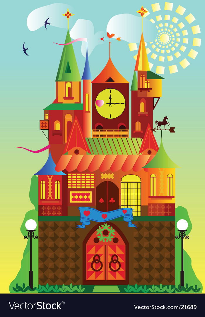 Fantastic fortress vector | Price: 3 Credit (USD $3)