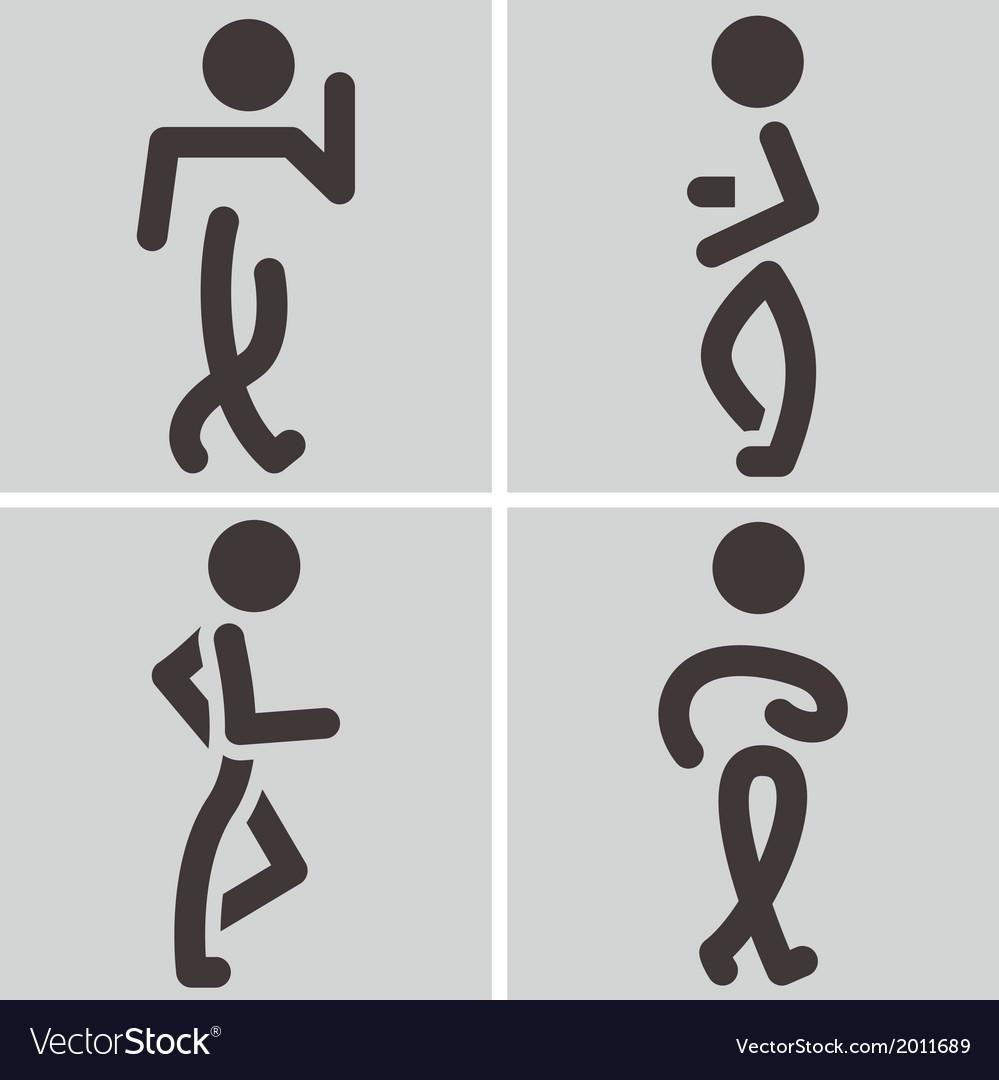 Heel and toe walk vector | Price: 1 Credit (USD $1)