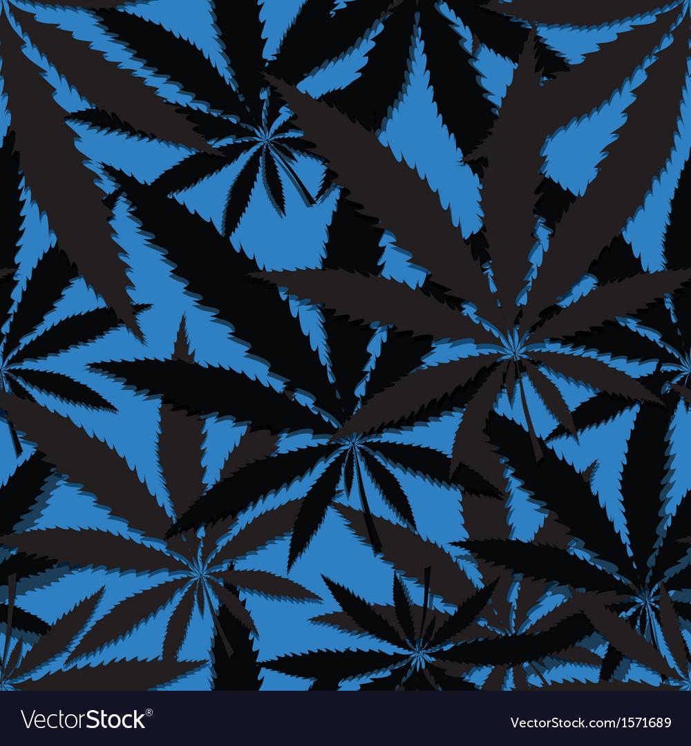 Hemp floral seamless background cannabis leaf vector | Price: 1 Credit (USD $1)