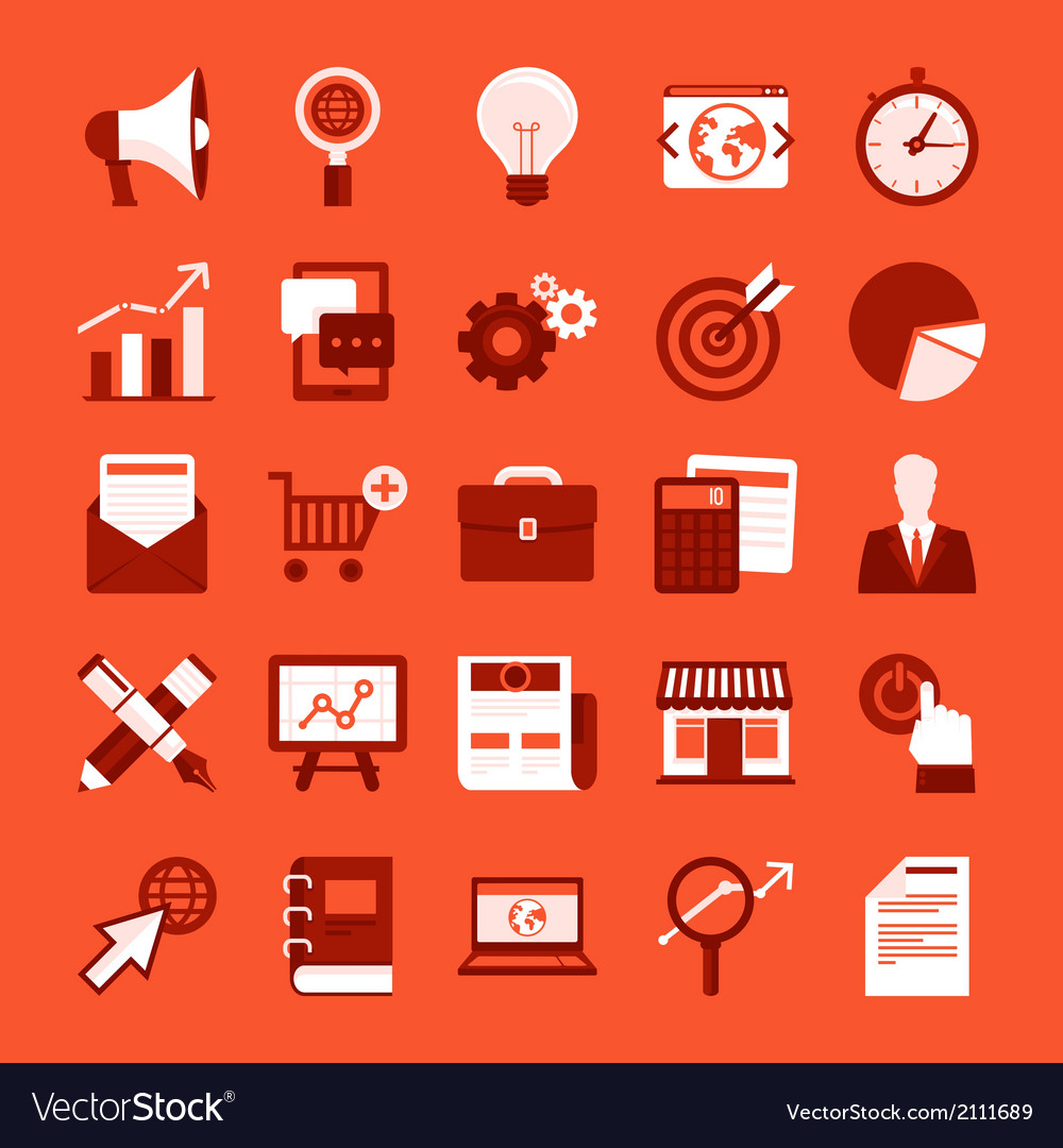 Marketing icons vector   Price: 1 Credit (USD $1)