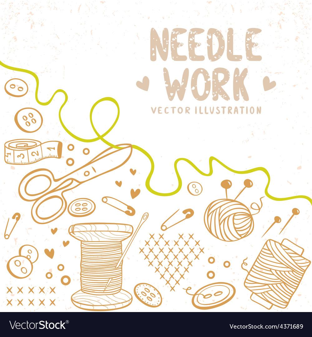 Needle work vector | Price: 1 Credit (USD $1)