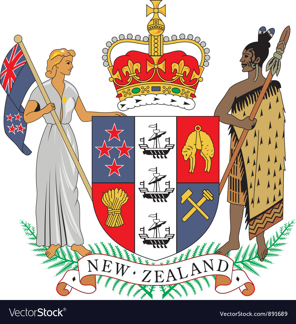 New zealand coat-of-arms vector | Price: 1 Credit (USD $1)