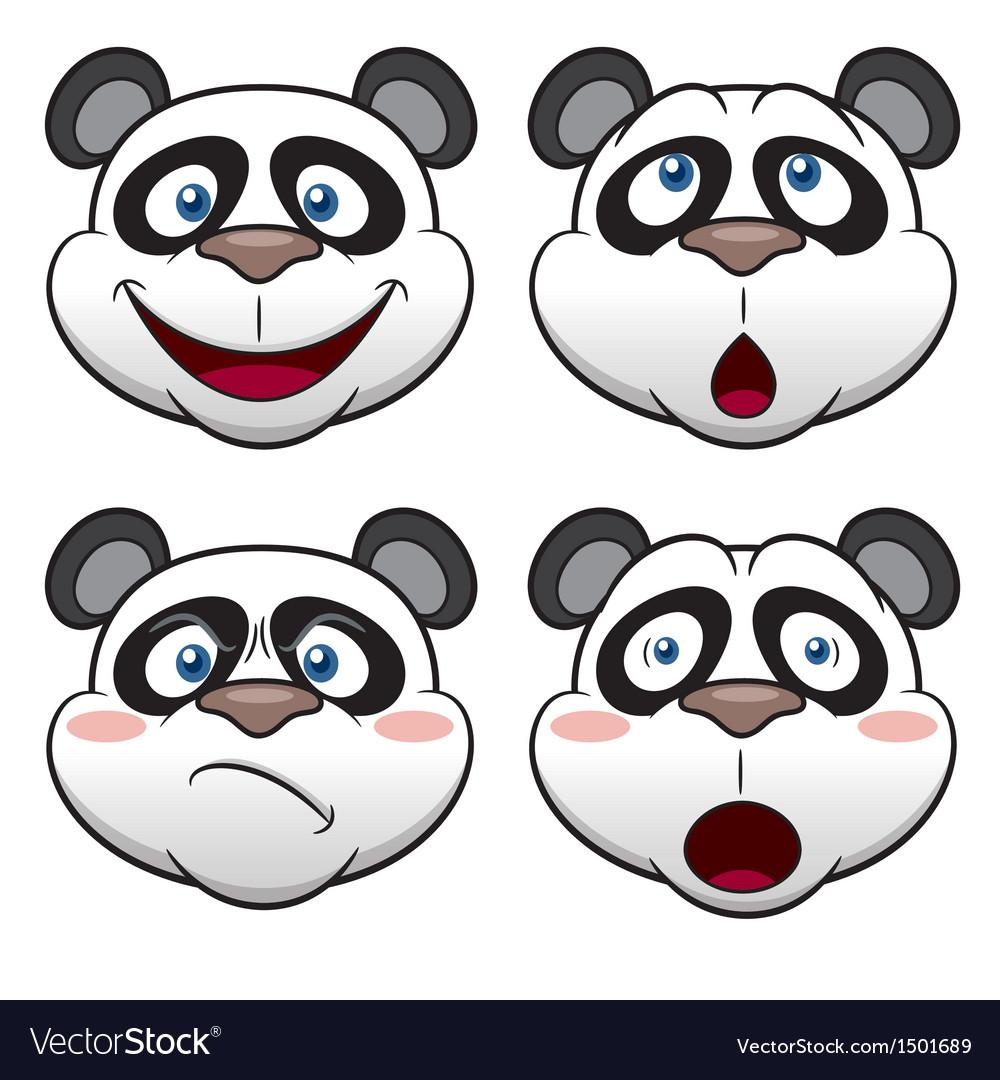 Panda face vector | Price: 3 Credit (USD $3)
