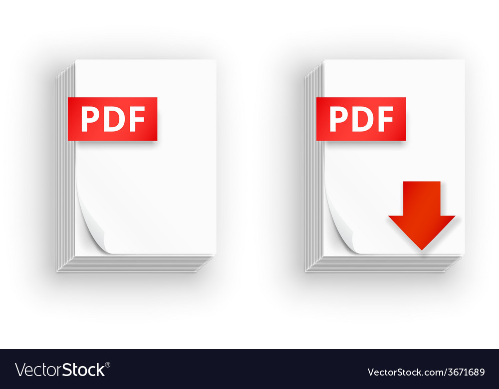 Pdf paper sheet icons vector | Price: 1 Credit (USD $1)