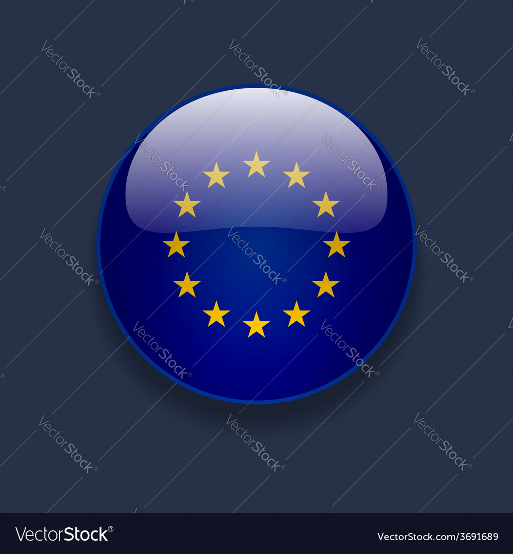 Round icon with flag of europe vector | Price: 1 Credit (USD $1)