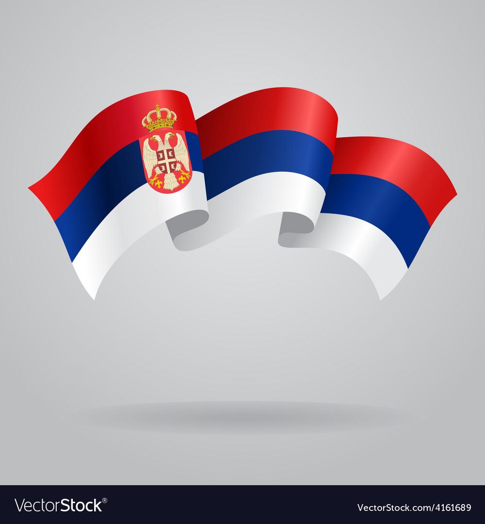 Serbian waving flag vector | Price: 3 Credit (USD $3)
