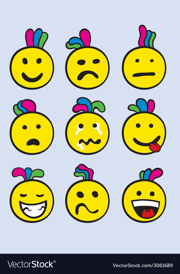 Smile set vector | Price: 1 Credit (USD $1)