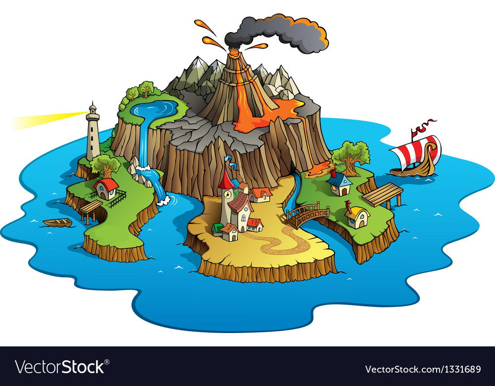 Wonder island vector | Price: 3 Credit (USD $3)