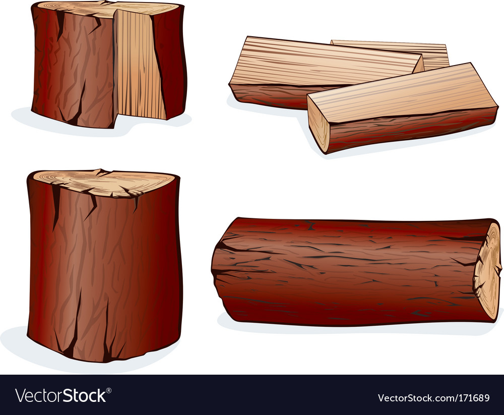 Wood log vector | Price: 1 Credit (USD $1)