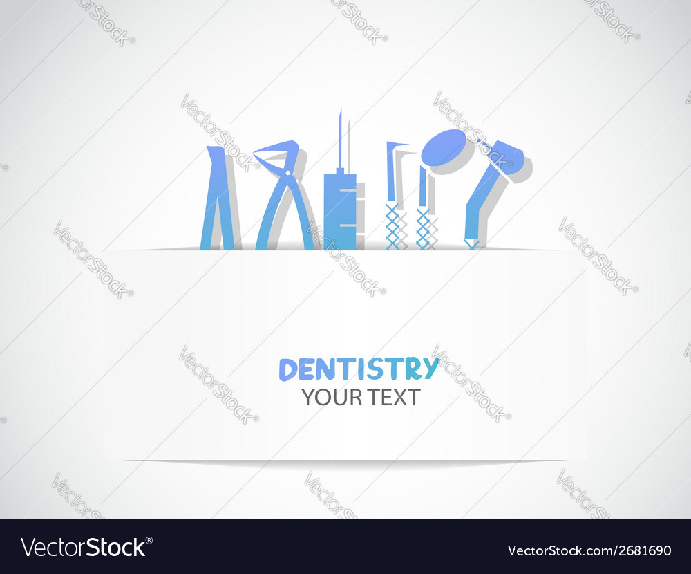 Background with dentistry tools vector | Price: 1 Credit (USD $1)
