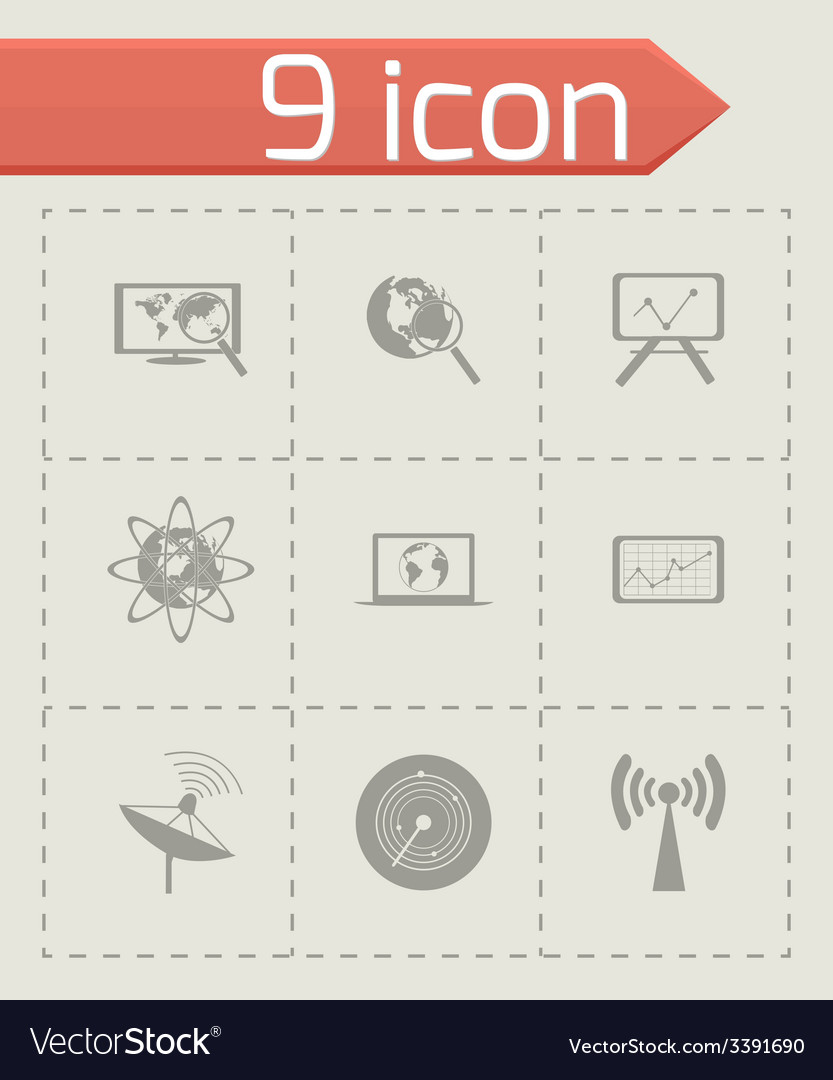 Black seo icons set vector | Price: 1 Credit (USD $1)