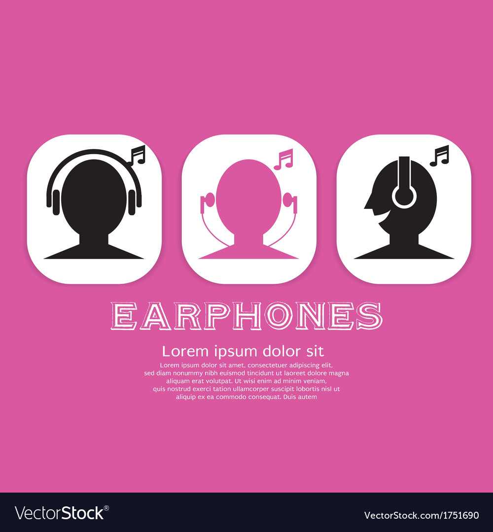 Earphones eps10 vector | Price: 1 Credit (USD $1)