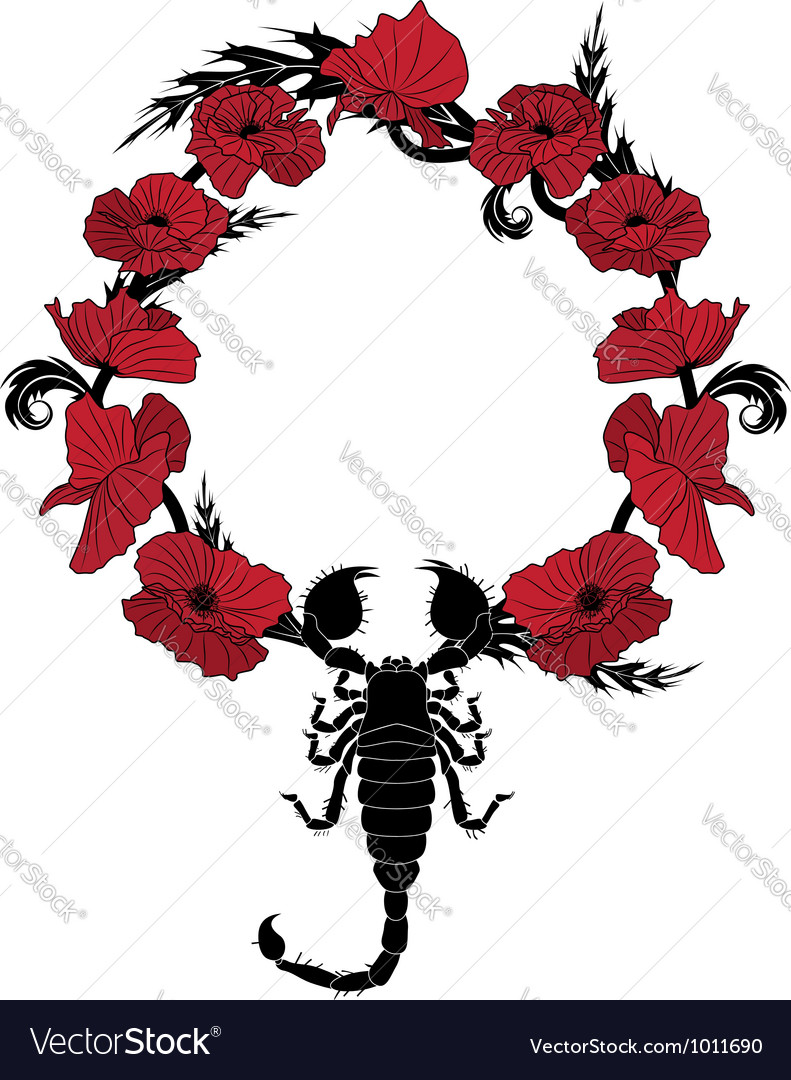 Poppy and scorpion vector | Price: 1 Credit (USD $1)