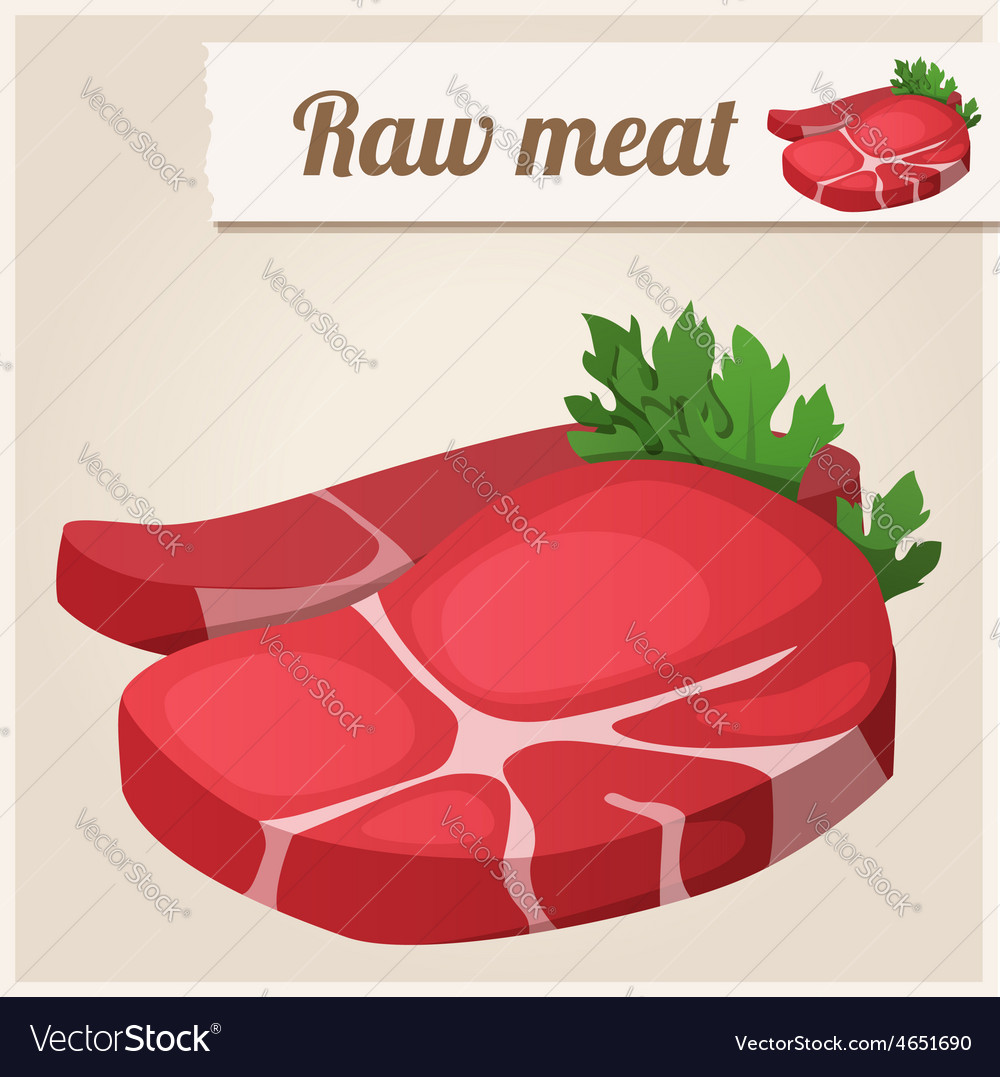 Raw fresh meat vector   Price: 3 Credit (USD $3)