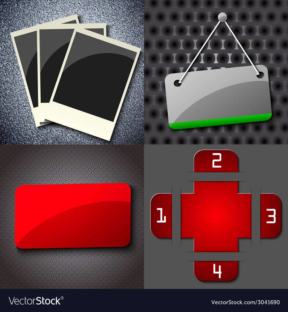 Set of vintage retro frame hanging on a wall with vector   Price: 1 Credit (USD $1)