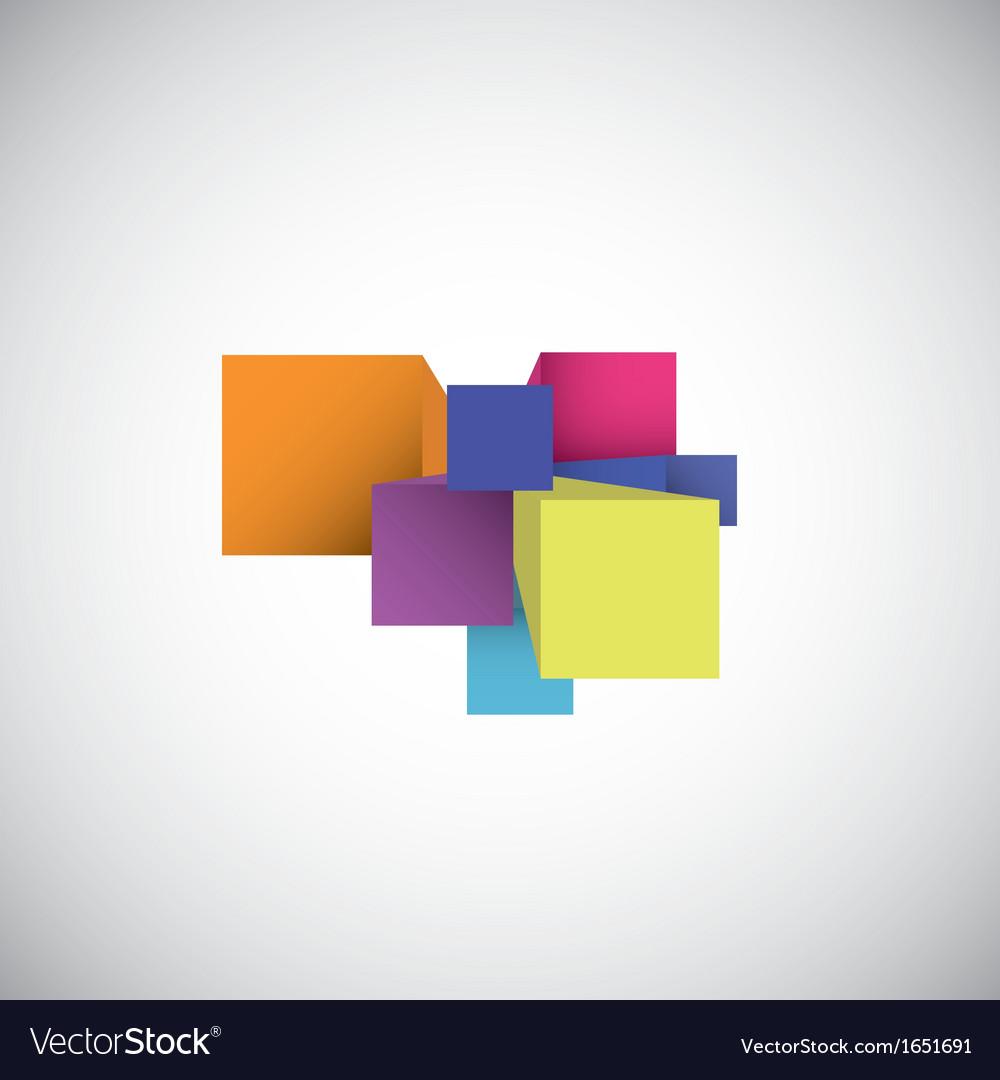3d cubes vector | Price: 1 Credit (USD $1)