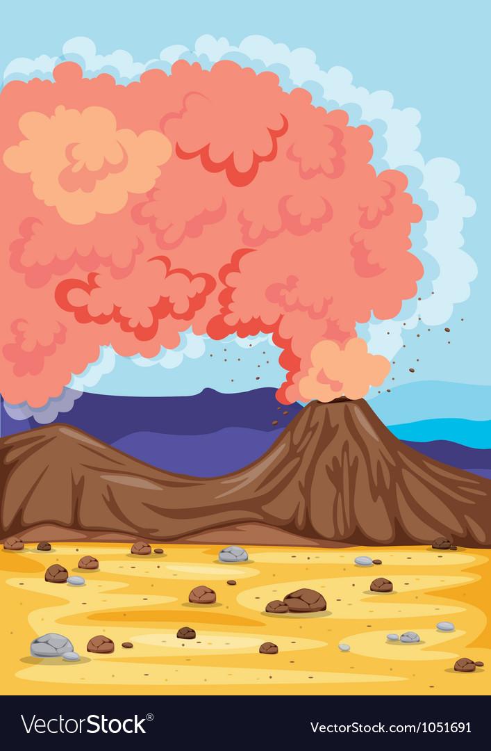A volcano vector | Price: 1 Credit (USD $1)