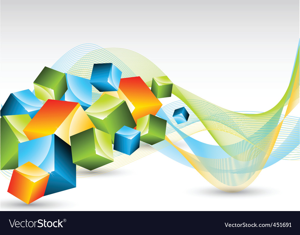 Abstract background with colorful cubes vector | Price: 1 Credit (USD $1)