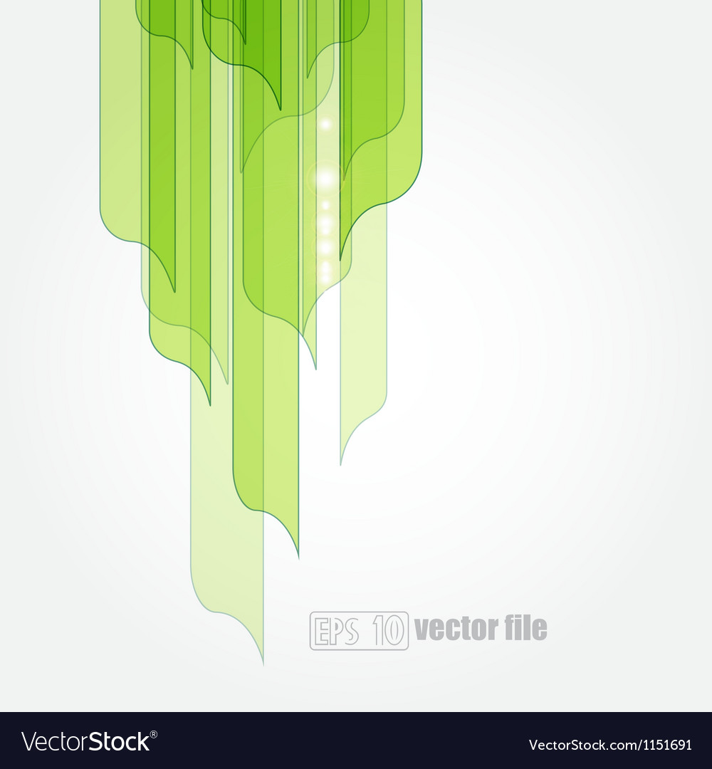 Abstract green leaves eco background vector | Price: 1 Credit (USD $1)