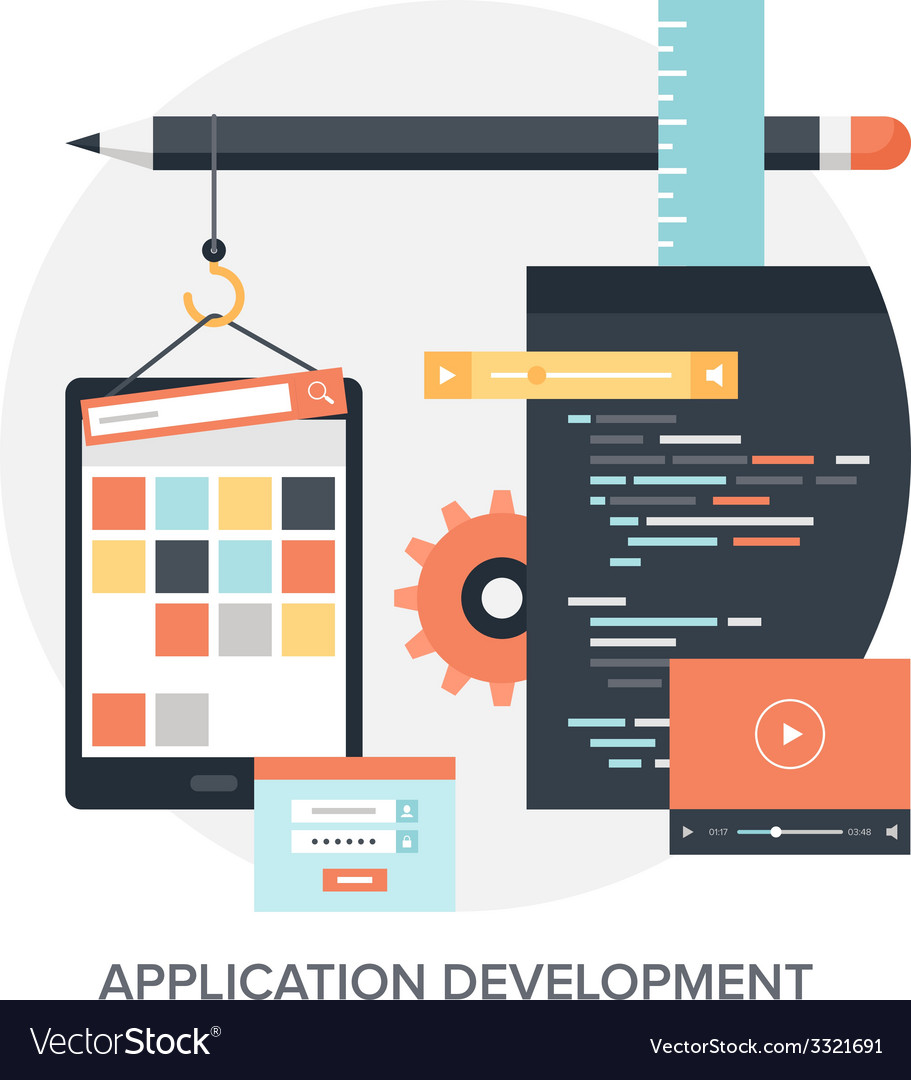 Application development vector | Price: 1 Credit (USD $1)