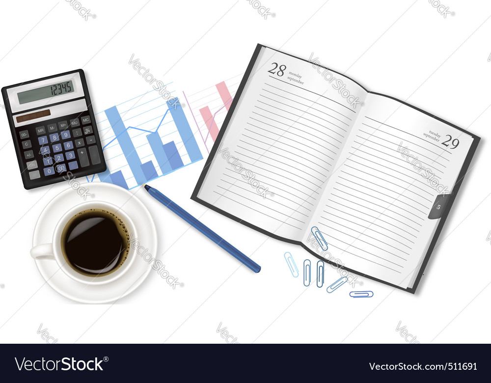 Business planning background vector | Price: 3 Credit (USD $3)