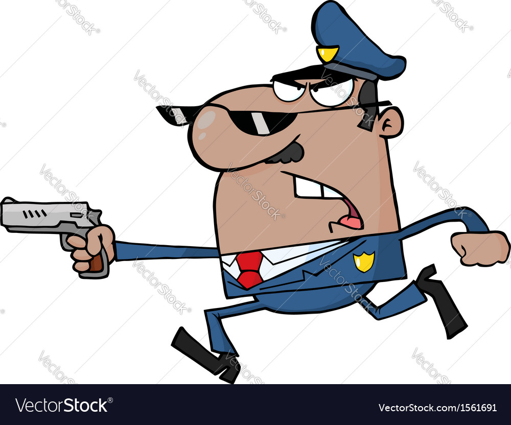 Cartoon police officer vector | Price: 1 Credit (USD $1)