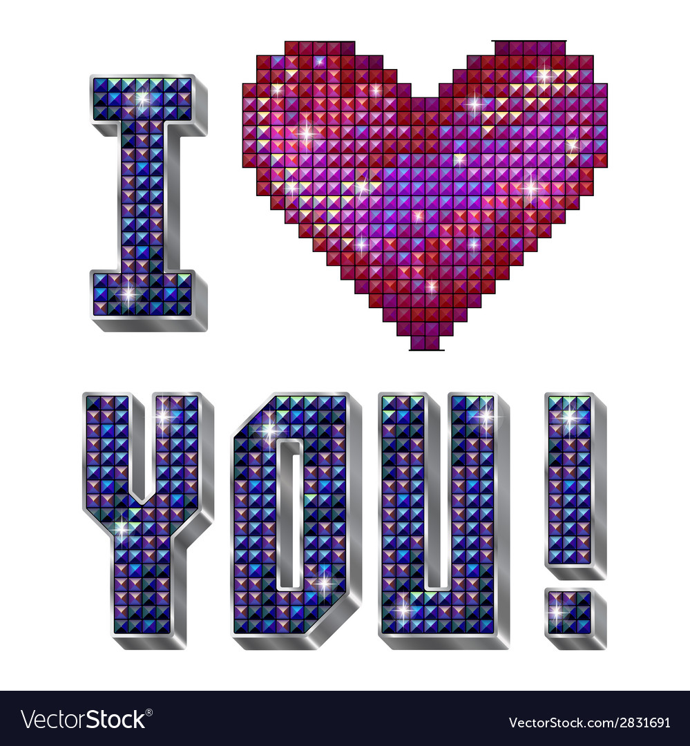 I love you - inscription isolated on the white vector | Price: 1 Credit (USD $1)