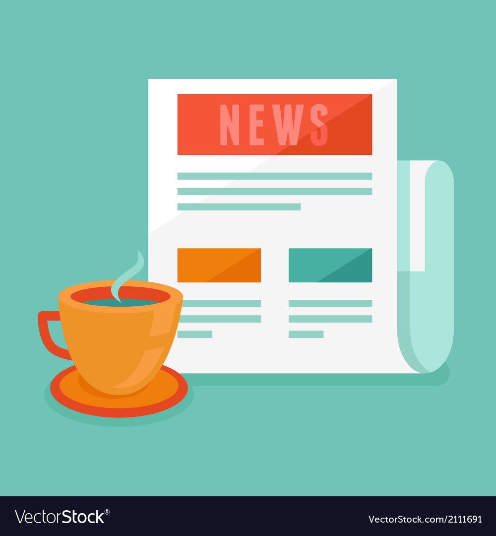 News concept in flat style vector | Price: 1 Credit (USD $1)