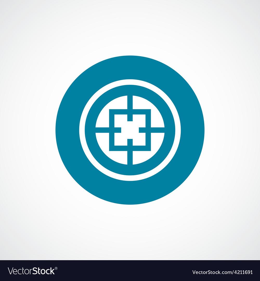Optical sight icon bold blue circle border vector | Price: 1 Credit (USD $1)