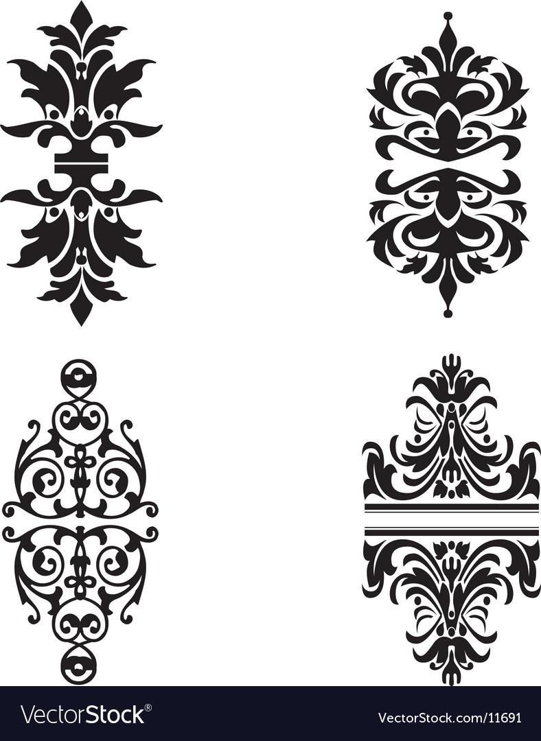 Ornate design elements vector   Price: 1 Credit (USD $1)