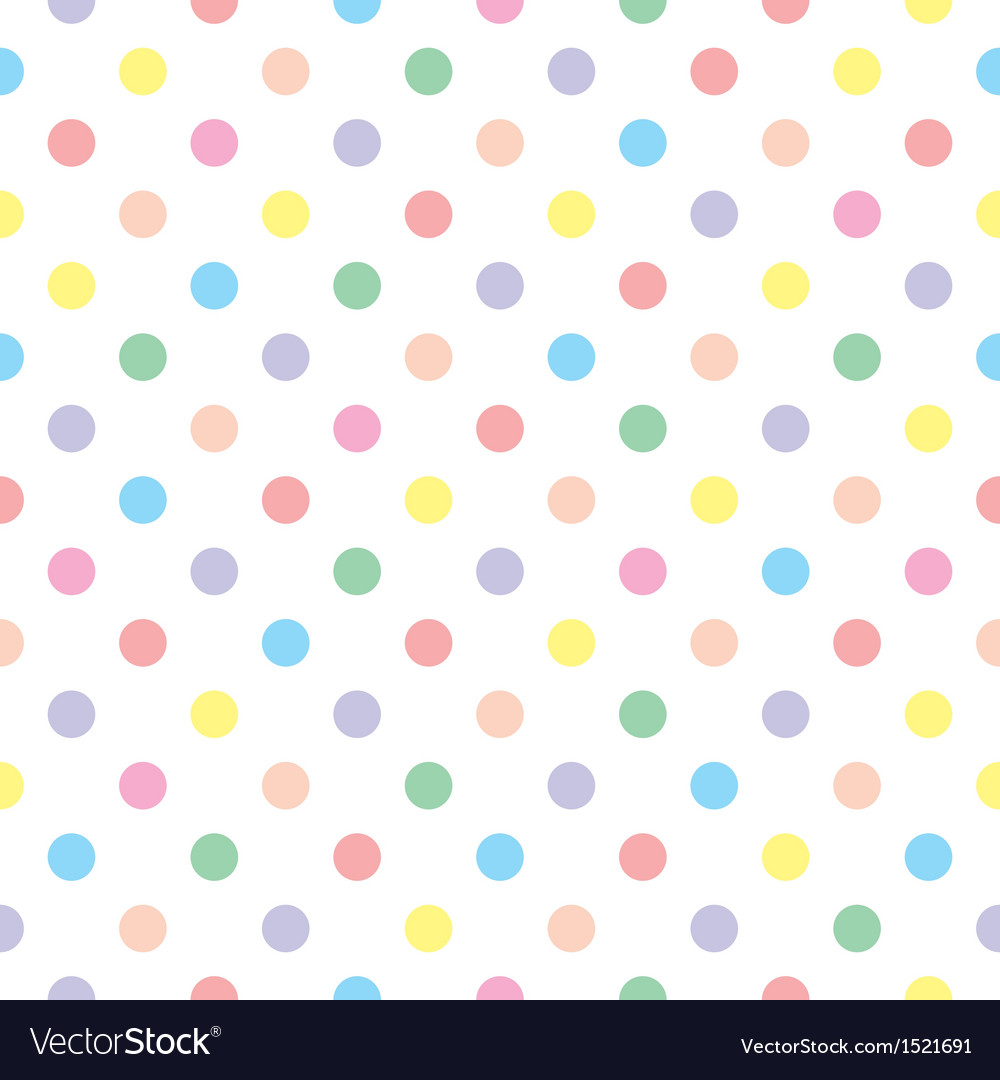 Seamless sweet colorful baby dots white background vector | Price: 1 Credit (USD $1)