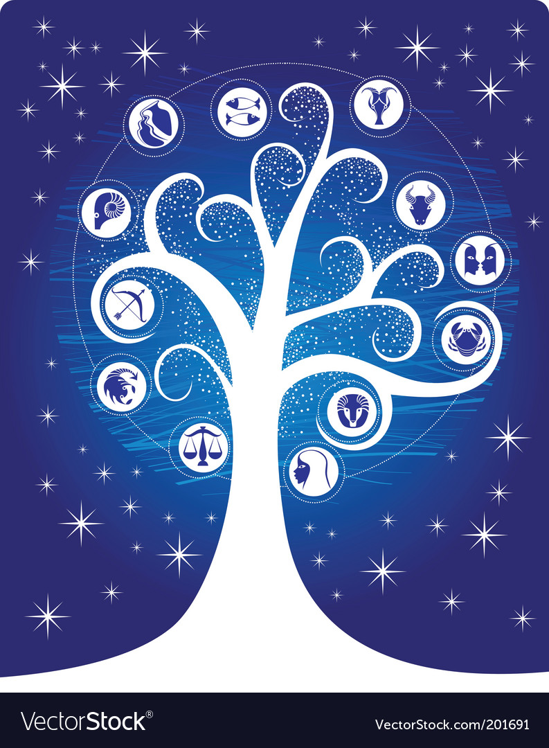 Zodiac tree vector | Price: 1 Credit (USD $1)