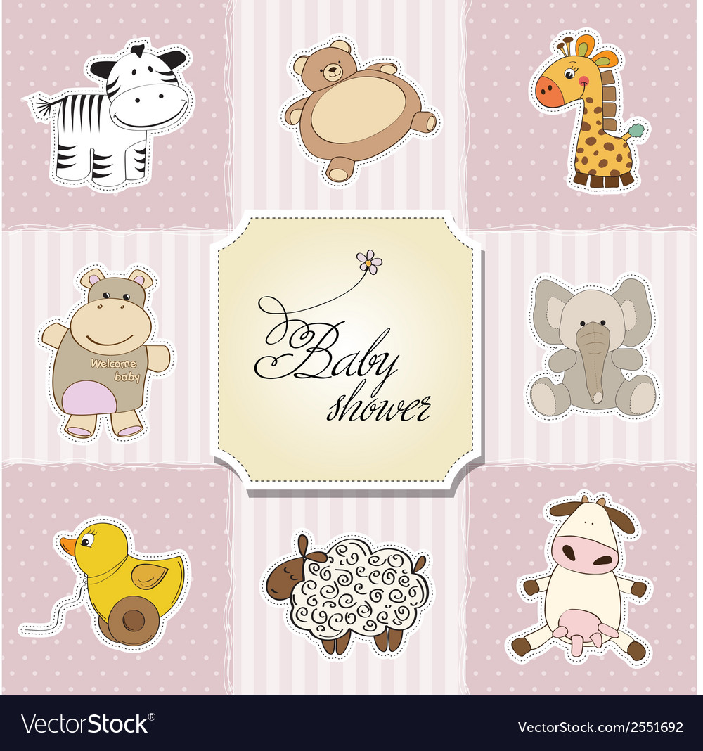 Baby shower card template vector | Price: 1 Credit (USD $1)