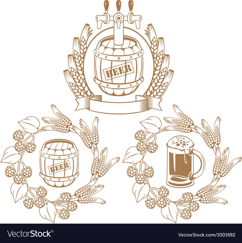 Barrel of beer vector | Price: 1 Credit (USD $1)